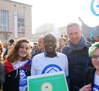 L'équipe du Refuge Bruxelles